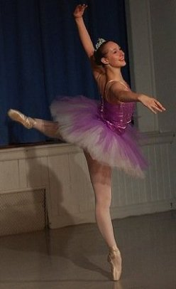 """Aurora's Birthday,"" The Sleeping Beauty, Swarthmore Ballet Theater. Spring 2010. Dancer: Kathryn Ailes. Photo Credit: Richard Ailes."