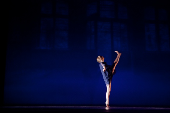 """Empty House,"" chor. Talia Mason, Spring 2013. Dancer: Kathryn Ailes. Photo Credit: Phyllis Graber Jensen."