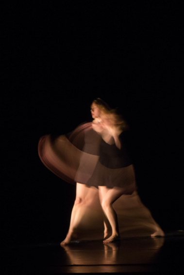 """Homing,"" chor. Katie Ailes, 2014. Dancer: Katie Ailes. Photo credit: Ebbe Sweet."