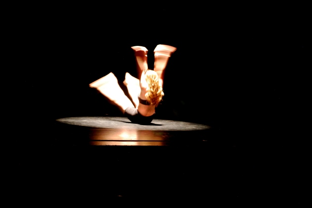 """Flesh,"" chor. Kathryn Ailes. Perf. Spring 2012, Bates College. Dance: Kathryn Ailes. Photo Credit: Ebbe Sweet."