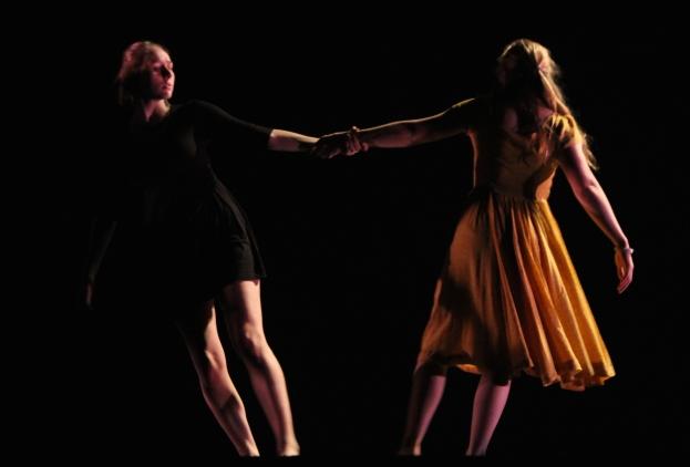 """""""Homing,"""" chor. Katie Ailes, 2014. Dancers: Katie Ailes, Kelsey Schober"""