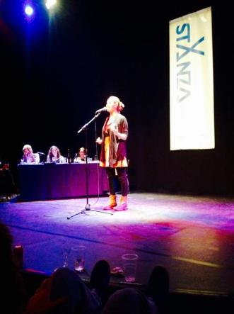 In March I went to StAnza, Scotland's International Poetry Festival, to volunteer and soak in all the poetry I could. While there, I competed in and won the StAnza slam! StAnza is a wonderful festival full of great artists in a nurturing environment, and I'm delighted to be returning to perform at their Poetry Cafe in 2016 with Kevin Mclean - Loud Poet. Info here: http://stanzapoetry.org/festival/events/poetry-caf-kevin-mclean-katie-ailes