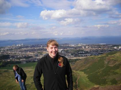 Wee lil me on Arthur's Seat back in 2012, my first time in Scotland.