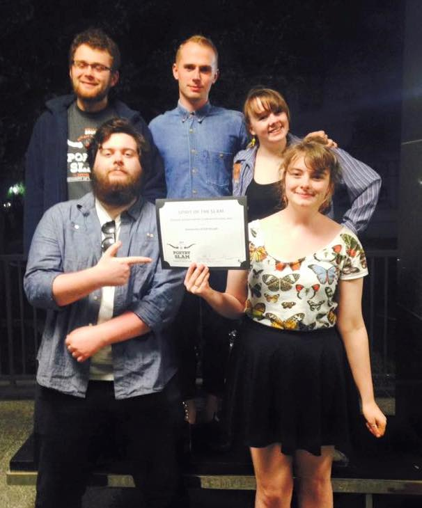 Team Edinburgh with their Spirit of the Slam Award at the end of CUPSI 2016.